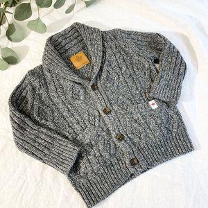 Canadiana Baby Boys' Cable Knit Shawl Cardigan